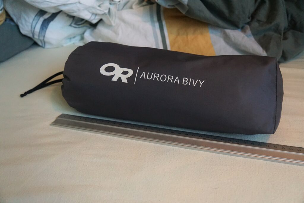 Packed Outdoor Research Aurora bivouac sac