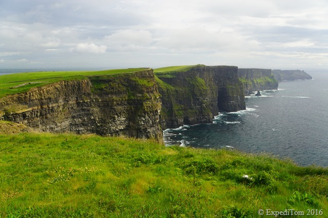 The Cliffs of Moher are up to 210 metres tall.