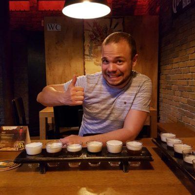 Beer tasting in Bozen