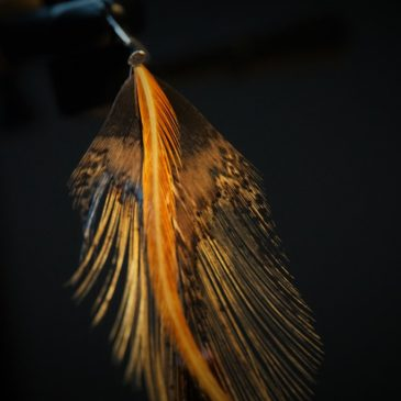 DIY Making Fly Tying Earrings as Christmas present