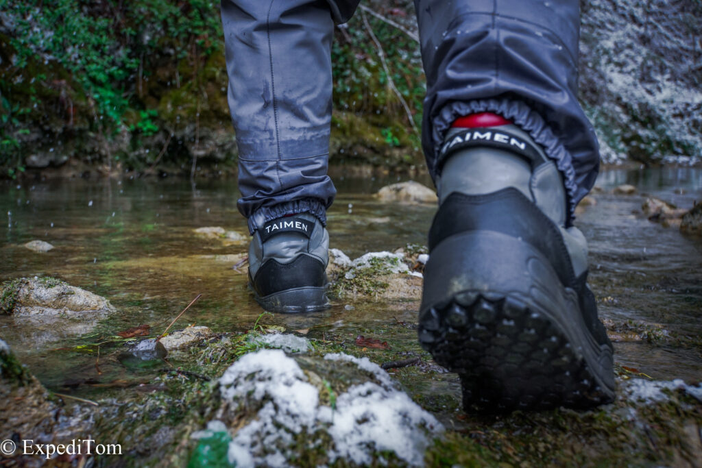 The Taimen Khatanga Wading Boots are very comfortable although not as tight in the lower parts as usually laced boots