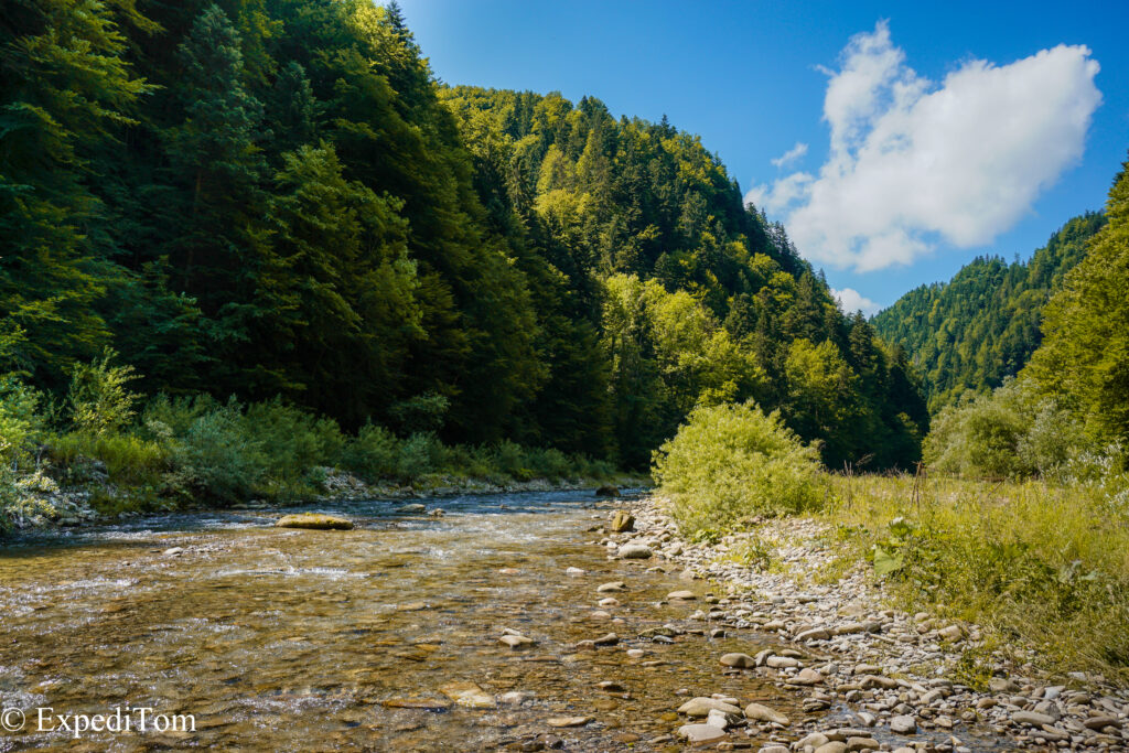 Impressive surrounding in the gorge while on a fly fishing exploration in Switzerland