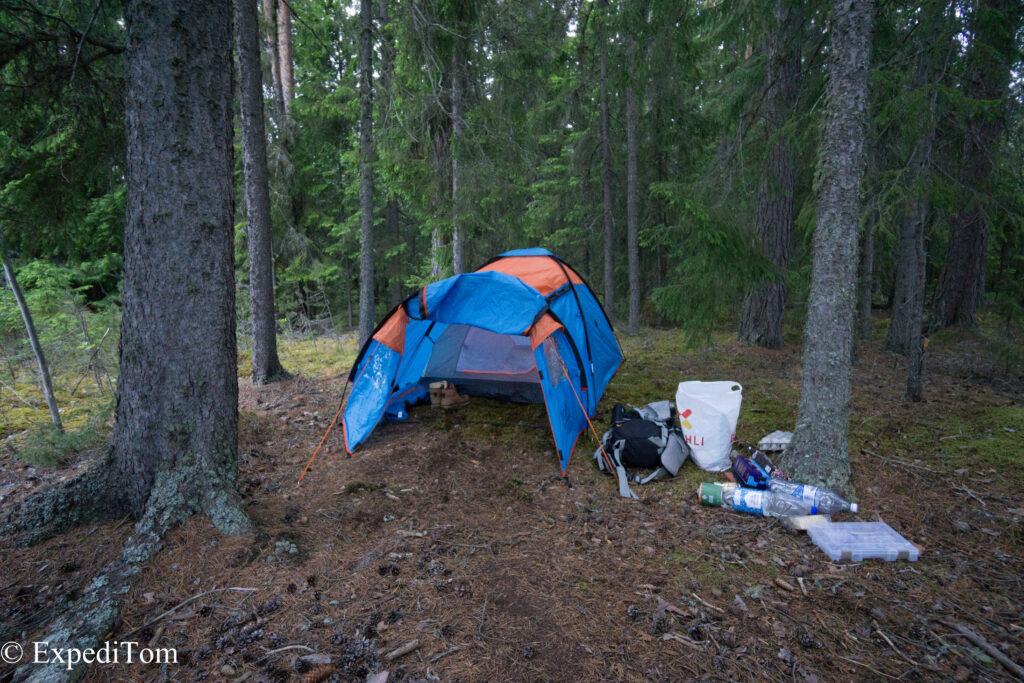 Camping at Lake Storsjön