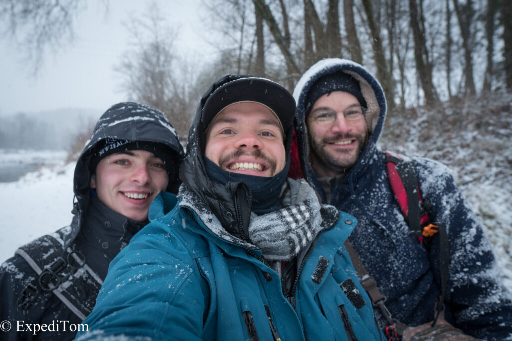 Polar explorer trio