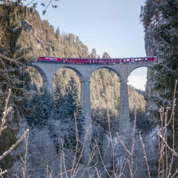 Photographing the Landwasser Viaduct in Switzerland